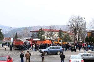 Blokada suda u Kosovskoj Mitrovici